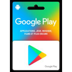 e-carte Google Play 25€