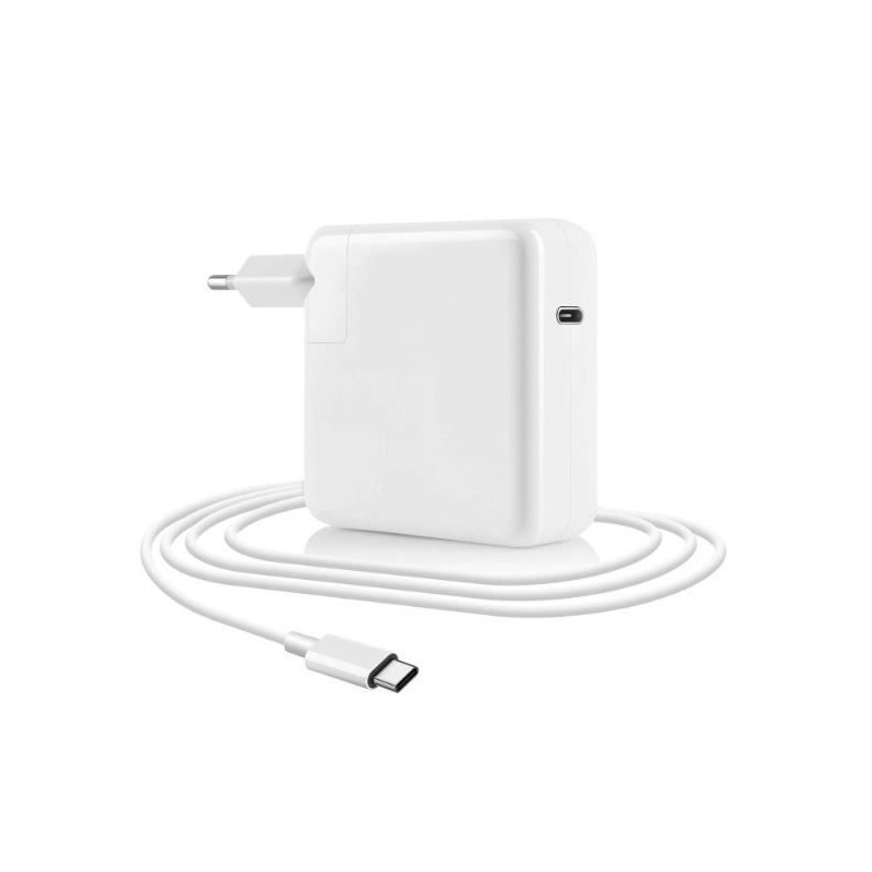Chargeur MACBOOK 61W Type-C Blanc