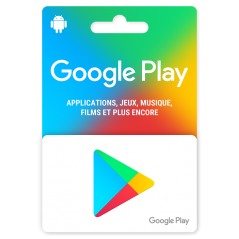 Carte cadeau Google Play 15 euros FR a Tunis