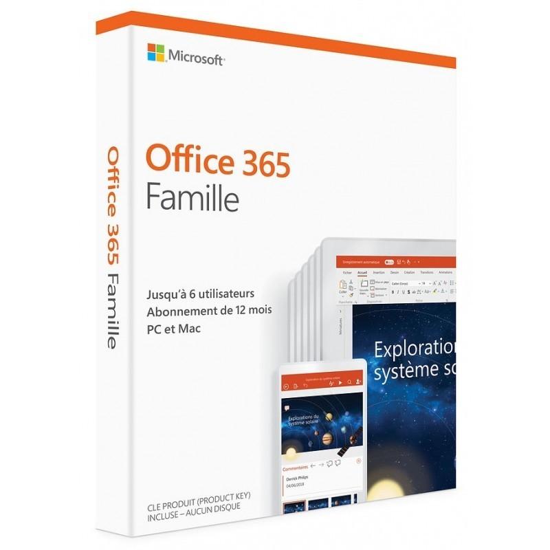 Microsoft Office 365 Famille 6 utilisateurs / 1 an