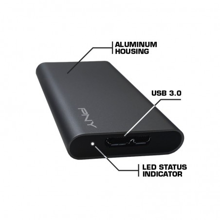 Disque SSD Externe PNY 240GB Elite USB 3.1