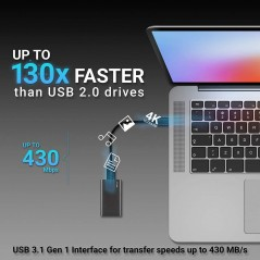 Disque SSD Externe PNY 480GB Elite USB 3.1